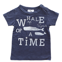 jeans-b. 2nd whale Tシャツ (レッド)