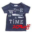 jeans-b. 2nd whale Tシャツ (ネイビー)